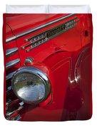 1949 Diamond T Truck Emblem Duvet Cover