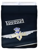1950 Ferrari Carrozz Touring Milano Emblem Duvet Cover