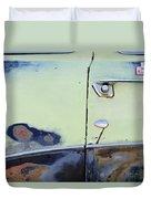 1950 Ford Crestliner Door Handle Duvet Cover