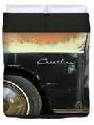 1950 Ford Crestliner Wheel Emblem Duvet Cover