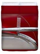 1950 Kaiser Hood Ornament Duvet Cover