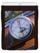1950 Oldsmobile 88 Dashboard Clock Duvet Cover