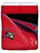 1950 Oldsmobile Rocket 88 Rear Emblem And Taillight Duvet Cover