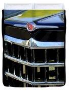 1950 Willys Jeepster Grille Emblem Duvet Cover
