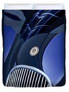 1951 Jaguar Proteus C-type Grille Emblem 4 Duvet Cover by Jill Reger