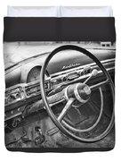 1951 Nash Ambassador Interior Bw Duvet Cover