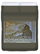 1951 Republica Argentina Stamp Duvet Cover