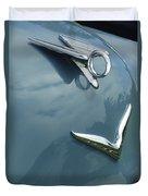 1952 Chrysler Saratoga Coupe Hood Ornament Duvet Cover