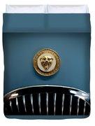 1952 Jaguar Hood Ornament Duvet Cover by Sebastian Musial