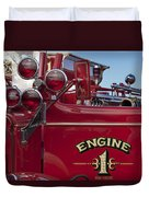 1952 L Model Mack Pumper Fire Truck 2 Duvet Cover