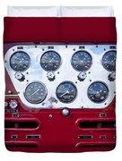 1952 L Model Mack Pumper Fire Truck Controls Duvet Cover