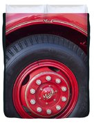 1952 L Model Mack Pumper Fire Truck Wheel 2 Duvet Cover