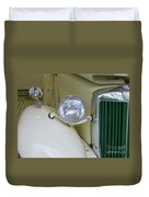 1952 Mg Roadster Headlamp Duvet Cover