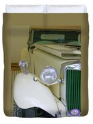 1952 Mg Roadster  Side View Duvet Cover