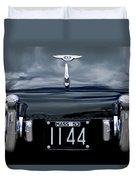 1953 Bentley Rear View License Plate Duvet Cover