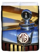 1953 Mg Td Hood Ornament Duvet Cover