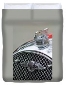 1953 Morgan Plus 4 Le Mans Tt Special Hood Ornament        Duvet Cover