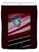 1953 Siata 208s Spyder Emblem Duvet Cover