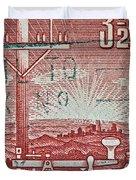 1954 Centenary Of Australian Telegraph Stamp Duvet Cover