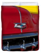 1954 Chevrolet Convertible Hood Emblem Duvet Cover