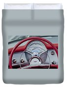1954 Chevrolet Corvette Steering Wheel Duvet Cover