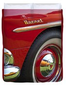 1954 Hudson Hornet Wheel And Emblem Duvet Cover
