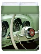 1954 Kaiser Darrin Steering Wheel Duvet Cover