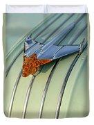 1954 Pontiac Chieftain Hood Ornament Duvet Cover