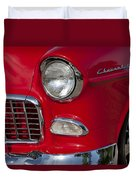 1955 Chevrolet 210 Front End Duvet Cover