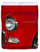 1955 Chevrolet 210 Headlight Duvet Cover
