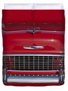 1955 Chevrolet 210 Hood Ornament And Grille Duvet Cover