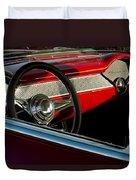 1955 Chevrolet 210 Steering Wheel Duvet Cover