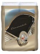 1955 Chevrolet Belair Clock Duvet Cover