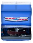 1955 Chevrolet Belair Hood Emblem 4 Duvet Cover