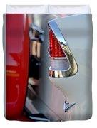 1955 Chevrolet Belair Taillight Emblem Duvet Cover