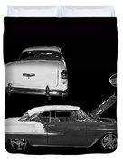 1955 Chevy Bel Air 2 Door Hard Top Duvet Cover