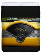 1955 Chevy Belair Clock Duvet Cover