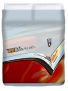 1955 Ford Fairlane Crown Victoria Emblem Duvet Cover