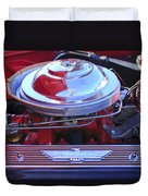 1955 Ford Thunderbird Engine Duvet Cover