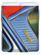 1955 Lincoln Capri Emblem Duvet Cover