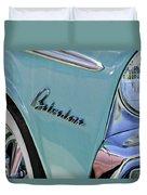 1955 Plymouth Belvedere Emblem Duvet Cover