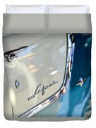 1955 Pontiac Safari Station Wagon Emblem Duvet Cover