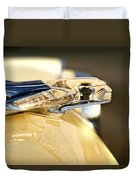 1955 Pontiac Star Chief Hood Ornament Duvet Cover