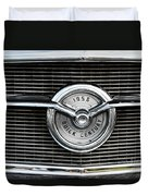 1956 Buick Century Grill Emblem Duvet Cover