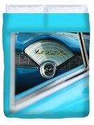 1956 Chevrolet Belair Nomad Dashboard Clock Duvet Cover