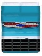 1956 Chevrolet Belair Nomad Grille Emblem Duvet Cover