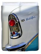 1956 Chevrolet Belair Taillight Emblem Duvet Cover