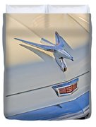 1956 Chrysler Windsor Town And Country  Hood Ornament Duvet Cover