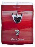 1956 Ford Fairlane Hood Ornament 7 Duvet Cover