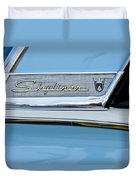 1956 Ford Fairlane Skyliner Emblem Duvet Cover